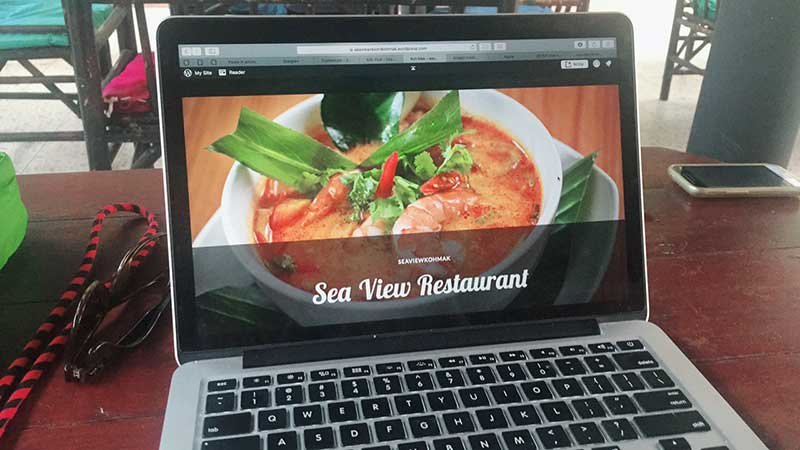 I made my host a new website while staying at his resort... sea view resort koh mak