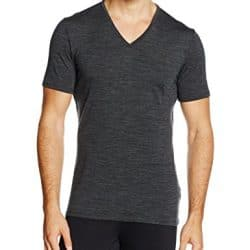 Icebreaker Merino Men's Anatomica Short Sleeve V-Neck Shirt (Slim Fit Undershirt), Merino Wool 7