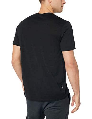 Icebreaker Merino Men's Tech Lite Short Sleeve Crewe Pyrenees Athletic T Shirts, Large, Black 2