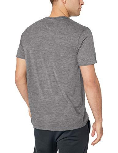 Icebreaker Merino Men's Tech Lite Short Sleeve Crewe Pyrenees Athletic T Shirts, Medium, Gritstone Heather 2