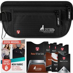 RFID Money Belt For Travel With RFID Blocking Sleeves Set For Daily Use [2019 NEW MODEL] 8