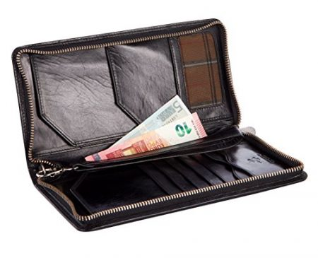 Visconti Large Leather Travel Wallet 2