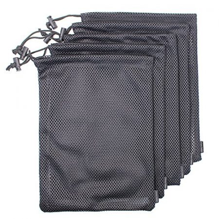 5 PCS Multi Purpose Nylon Mesh Drawstring Storage Ditty Bags for Travel & Outdoor Activity by Erlvery DaMain 1