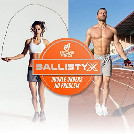 Ballistyx Jump Rope - Premium Speed Jump Rope with 360 Degree Spin, Silicone Grips, Steel Handles and Adjustable Power Cable - for Crossfit, Gym & Home Fitness Workouts & More 5