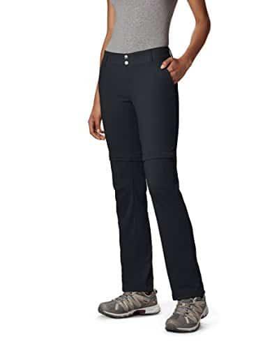 Columbia Women's Saturday Trail II Convertible Pant, Water & Stain Resistant, 12 Short, Black 1
