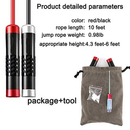 Gaoykai Weighted Jump Rope for Women,Men,Heavy Jump Rope with Adjustable Bold TPU Rope,Ball Bearing Aluminum Alloy Non-Slip Handle,Great for Crossfit Training, Boxing, and MMA Workouts 2