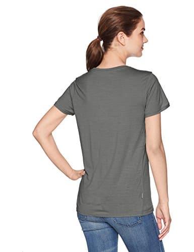 Icebreaker Merino Women's Tech Lite Short Sleeve Low Crewe Graphic Athletic T Shirts, Cadence/Metal, Small 2