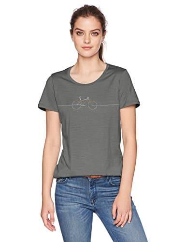 Icebreaker Merino Women's Tech Lite Short Sleeve Low Crewe Graphic Athletic T Shirts, Cadence/Metal, Small 1