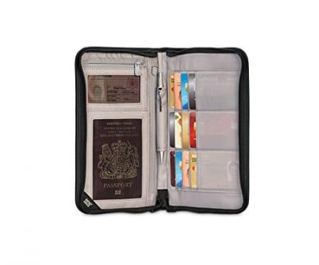 Pacsafe RFIDsafe V200 Anti-Theft RFID Blocking Travel Organizer, Black 3