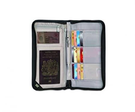 Pacsafe RFIDsafe V200 Anti-Theft RFID Blocking Travel Organizer, Black 5