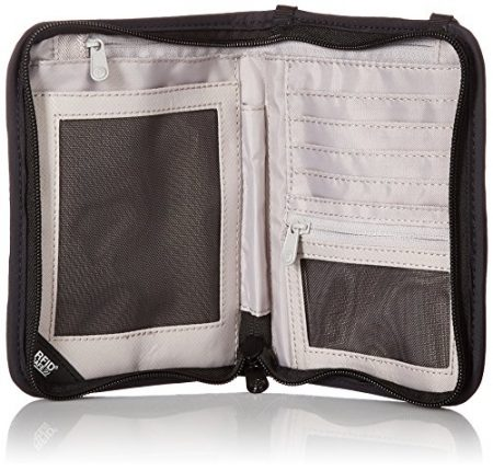 Pacsafe Rfidsafe V150 Anti-Theft RFID Blocking Compact Passport Wallet, Black 4