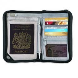 Pacsafe Rfidsafe V150 Anti-Theft RFID Blocking Compact Passport Wallet, Black 1