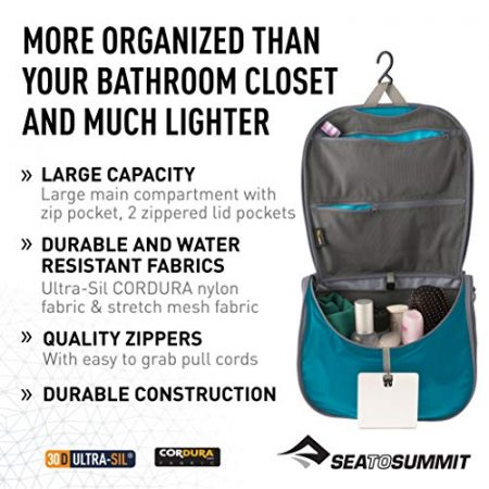 Sea to Summit Travelling Light Hanging Toiletry Bag 2