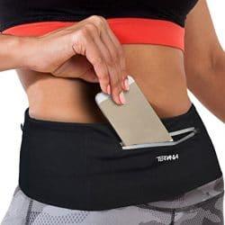 Tirrinia Unisex Running Belt Fanny Pack for iPhone X 6 7 8 Plus, Runner Workout Belt Waist Pack for Women and Men Walking Fitness Jogging Travel 7