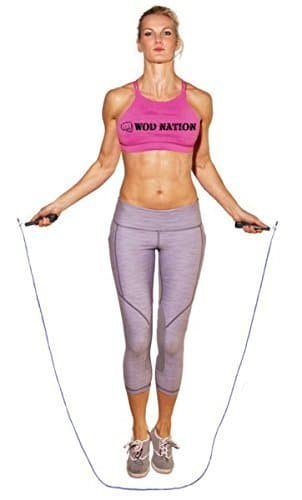 WOD Nation Speed Jump Rope - Blazing Fast Jumping Ropes - Endurance Workout for Boxing, MMA, Martial Arts or Just Staying Fit + FREE Skipping Training Included - Adjustable for Men, Women and Children 7